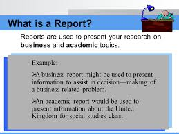 apply correct report format ppt video online what is a report reports are used to present your research on business and academic topics