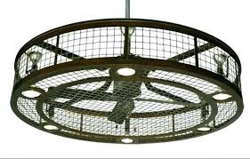 flush mount enclosed ceiling fan. Caged Ceiling Fan Enclosed Flush Mount With Light A