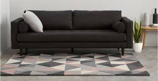 a wool rug in pink and grey 160 x 230cm
