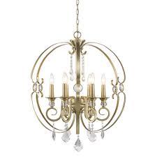 golden lighting ella 6 light white gold chandelier