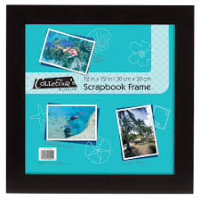 mcs 15x15 inch flat sbook frame with 12x12 inserts black 40952 b00awgi9vy