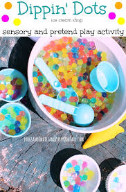 dippin dots ice cream sensory and pretend play activity idea for kids