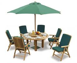 outdoor dining set with titan round table 1 5m 6 bali reclining chairs jpg