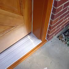 Exterior Door Threshold Plate Replace An Exterior Door Threshold