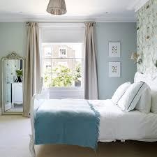 Serene Bedroom Serene Blue Bedroom With Birdcage Wallpaper