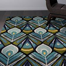 outstanding momeni habitat hand tufted peacock area rug reviews perigold throughout peacock area rug attractive