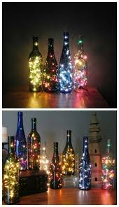 How To Use Wine Bottles For Decoration 100 Amazingly Pretty Ways To Use String Lights Empty wine bottles 71