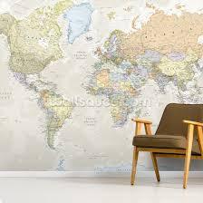 classic world map wall mural wallpaper