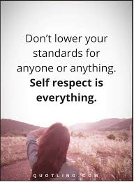Respect Quotes Gorgeous Self Respect Quotes Don't Lower Your Standards For Anyone Or