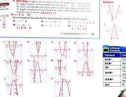 algebra math with mr barnes graphing quadratics in standard and vertex form worksheet ph graphing quadratics