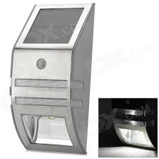 outdoor solar wall lights. Outdoor Wall Mounted Solar Motion Sensor LED White Lamp - Silver Lights E