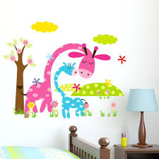 animal wall decals for kids cartoon animal forest wall stickers decals for  nursery and kids cartoon . animal wall decals for kids ...