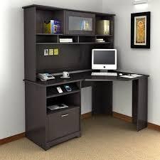 bush cabot corner computer desk with optional hutch bhi874