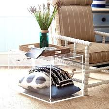 acrylic coffee table clear acrylic trunk perfect for storing pretty pillows and blankets lucite coffee table