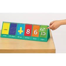 Number Flip Chart 2d 3d Geometric Shape Flip Chart Teacher Size