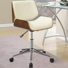 the back and bottom are formed from curved wood neatly containing the upholstered cushion swivel office chairdesk
