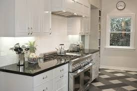 white kitchen cabinets with black countertops. Polished Black Countertops White Kitchen Cabinets With E