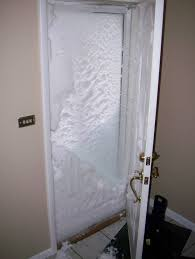 our storm door appaly blew open sometime during the night courtesy of our wind gusts and snow drifted inside our house making opening our door