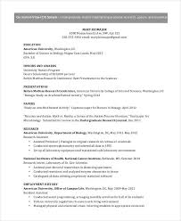 Gallery Of American Cv Template