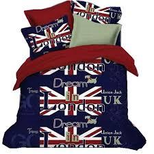 100 cotton fashion home texile american flag bedding set uk flag bedding queen king british