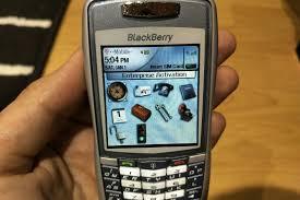 RARE BlackBerry 7100t - Silver grey ...