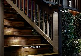 lighting for decks. deck stairs illuminated with lights lighting for decks l