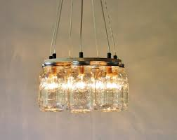 mason jar lighting fixture. mason jar chandelier hanging lighting fixture ring with 7 clear quart jars
