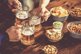 Young people at a beer party with stock photo containing beer and cheers |  High-Quality Food Images ~ Creative Market