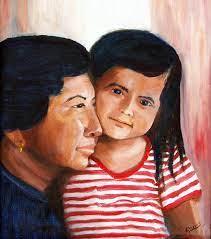 Tia Painting by Sylvia Riggs