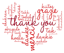Word Thank You Thank You To My Readers Judy Douglass