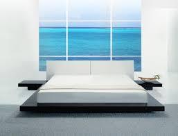 Opal Low Profile Platform Bed Contemporary Bedroom Los