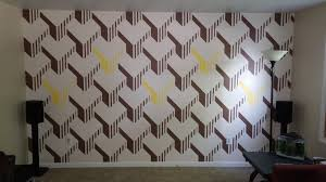 Painted Wall Designs I Painted My Living Room Wall Album On Imgur