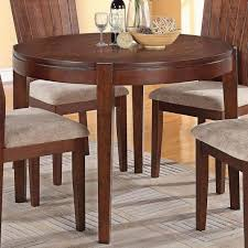 mauro casual round dining table in dark brown
