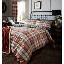 heritage kelso check duvet cover set with matching curtains duvet covers with pillow case