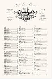 Nautical Wedding Seating Chart Sailing Ship Seating