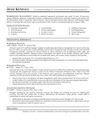 Sample Resume For Warehouse Position Warehouse Job Description