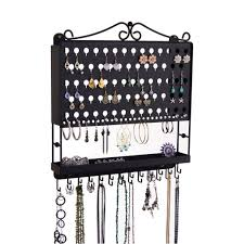 Jewelry Organizer Wall Wall Jewelry Organizer Hanging Earring Holder And Necklace Rack