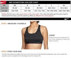 75b bra size nike sports bra size chart world of printables