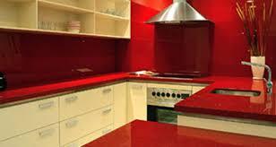 kitchen countertop from red quartz