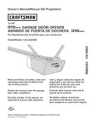 craftsman 13953920dm user manual garage door opener manuals and guides l0803739