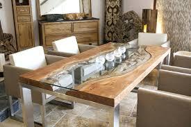 Baumstamm Tisch Rund Der Tischonkel Mit Glas Und Edelstahl