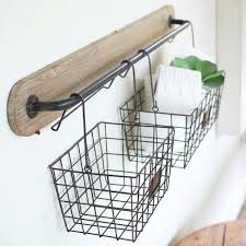 hanging basket shelf wire storage baskets for shelves stupefy wall bracket with i say ideal bathroom or home