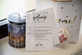 chicago wedding welcome bag ideas shannon gail weddings and events