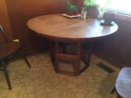 mid century modern expandable round dining table