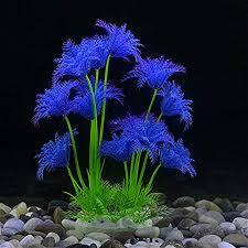 qazsd2 fish tank decor landscaping emulation weed plastic flowering plants before setting gr daisy purple amazon co uk kitchen home