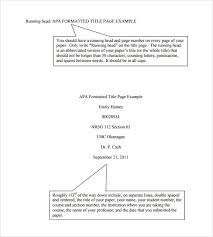 Apa Cover Sheet Sample Apa Cover Sheet Example Mwb Online Co