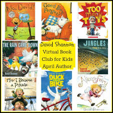 david shannon is april s featured author for the virtual book club for kids