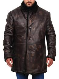 men winter leather jacket men s brown leather jacket with faux fur collar