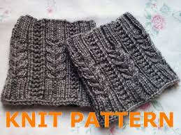 Boot Cuff Pattern Fascinating KNIT PATTERN Melissa's Cabled Boot Cuff