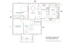 interior house plan. Printable Grandfather Cottage Plan Interior House